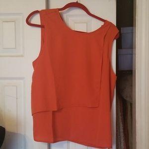 BCBGMAXAZRIA Orange blouse